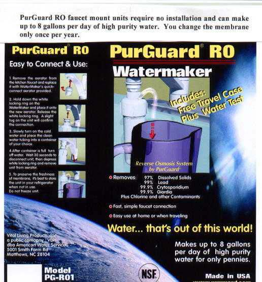 PurGuard® RO WaterMaker - Product Image