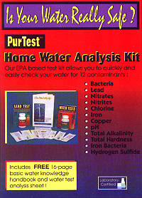 25 Water Contaminants Test - Product Image