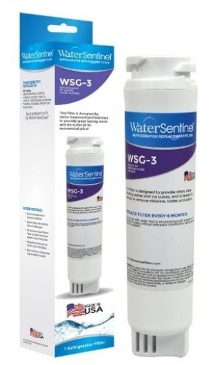 Replacement for GE MSWF Fridge Water Filter Made in USA by WaterSentinel WSG-3 AP3997949 PS1559689 - Product Image